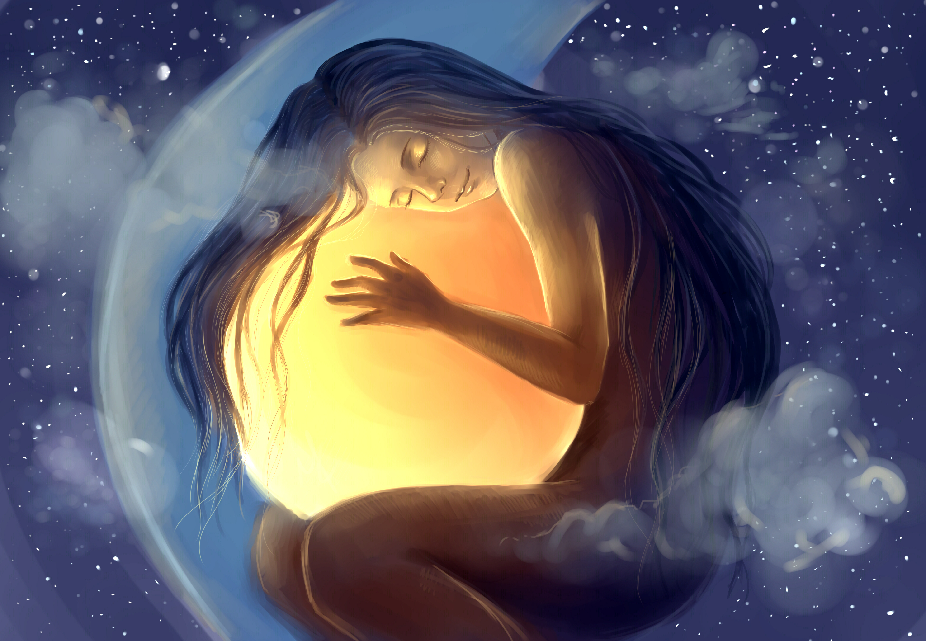 painting-dreaming-crystal-ball-moon-star-sleeping-happy-smile.jpg